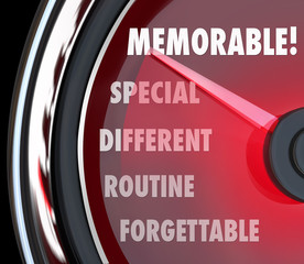Difference between unforgettable and memorable