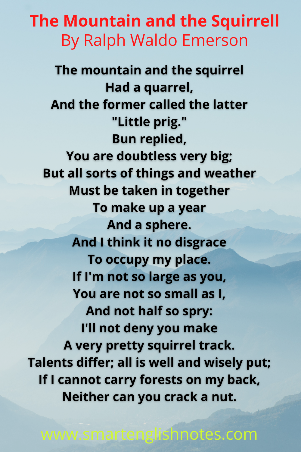 The mountain and the squirrel